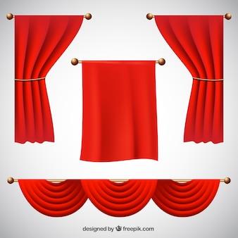 Realistische packung von theatervorhängen