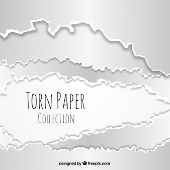 Realistische packung zerrissenes papier