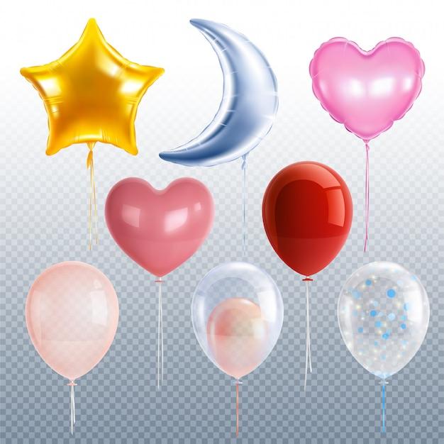 Realistische partyballons gesetzt