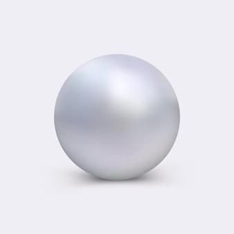 Realistische perle für das logo und emblem von restaurant, schmucksalon, hotel, kosmetiksalon und mehr.