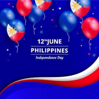 Realistische philippinische unabhängigkeitstagillustration