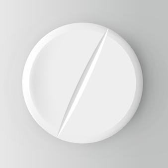 Realistische pille. illustration auf hintergrund.