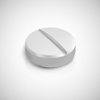 Realistische pille. illustration lokalisiert auf hintergrund.