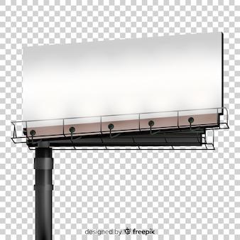 Realistische plakatwand hintergrund
