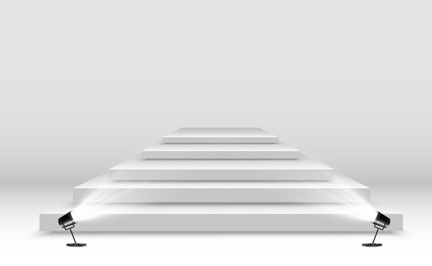 Realistische plattform auf transparentem hintergrund Premium Vektoren