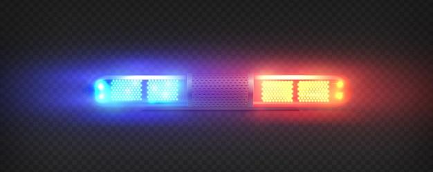 Realistische polizei führte blinker