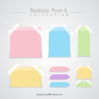 Realistische post-it-sammlung