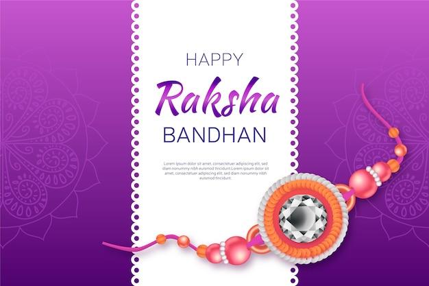Realistische raksha bandhan illustration
