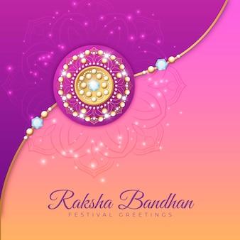 Realistische raksha-bandhan-illustration
