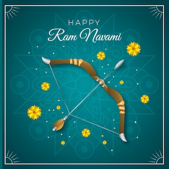 Realistische ram navami illustration