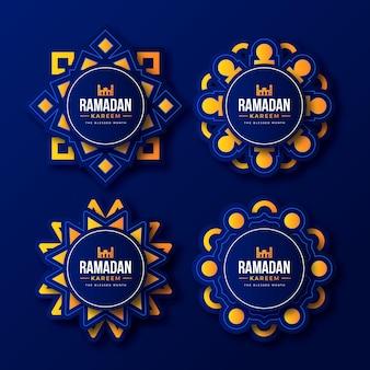 Realistische ramadan-etikettensammlung