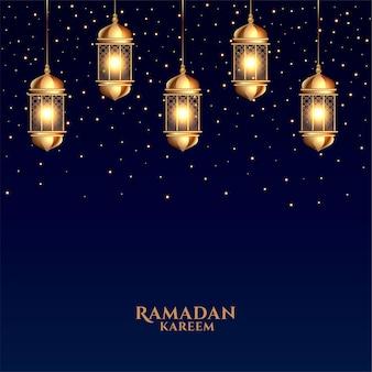 Realistische ramadan kareem festival grußkarte