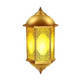 Realistische ramadan lampe