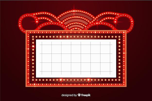 Realistische retro-theater zeichen