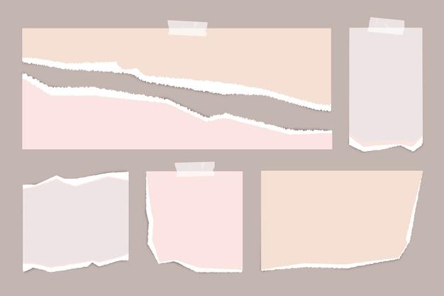 Realistische rip-paper-packung