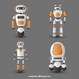 Realistische roboterfigurensammlung
