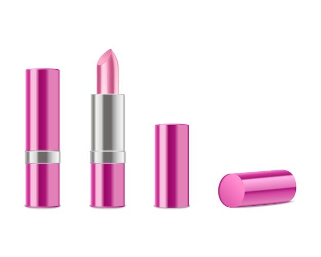 Realistische rosa lippenstifte