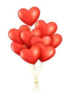 Realistische rote luftballons