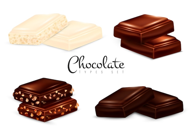 Realistische schokoladentypen