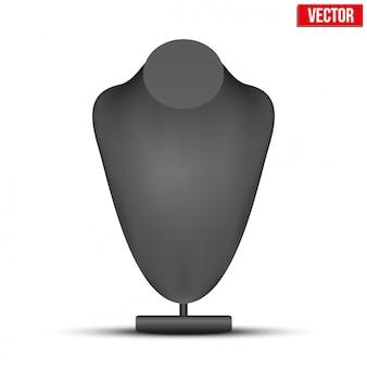 Realistische schwarze dummy-halskette büste.