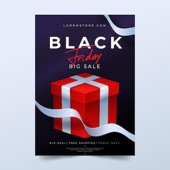 Realistische schwarze freitag flyer vorlage