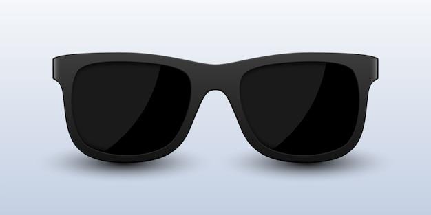 Realistische schwarze sonnenbrille