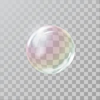 Realistische seifenblase