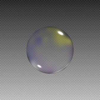 Realistische seifenblasen mit regenbogenreflexionssatz von isolierten vektorillustrationen.