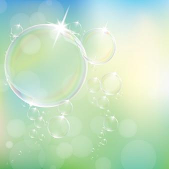 Realistische seifenblasen