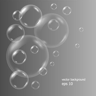 Realistische seifenwasserblasen