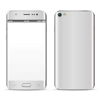 Realistische smartphone-vorder- und rückseite
