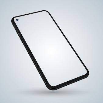 Realistische smartphone-vorlage