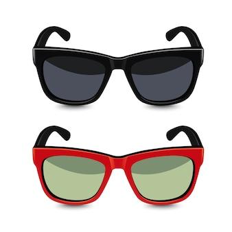 Realistische sonnenbrille. illustration