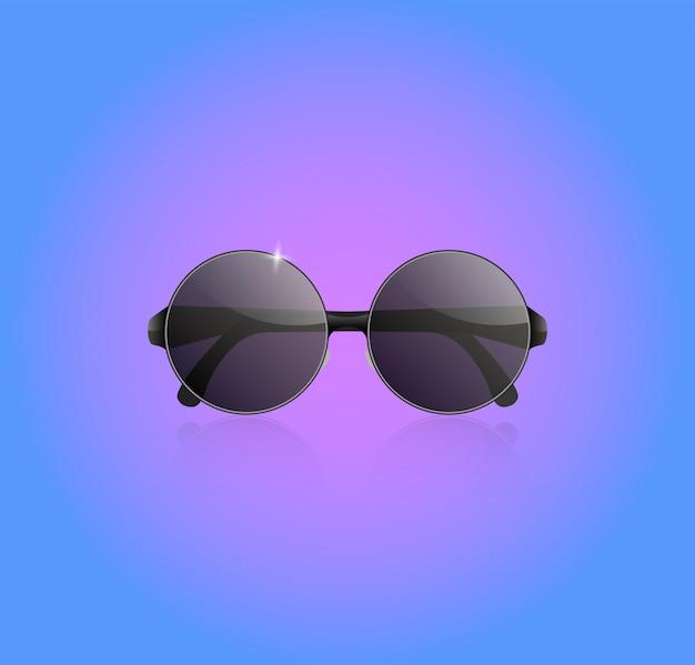 Realistische sonnenbrille vektor.