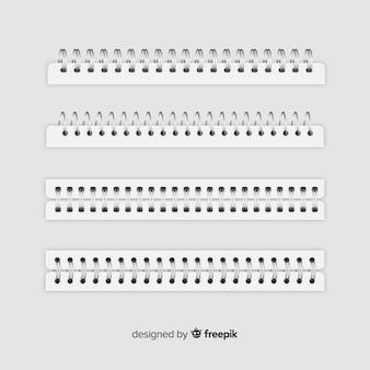 Realistische spirale für notizbuchsammlung
