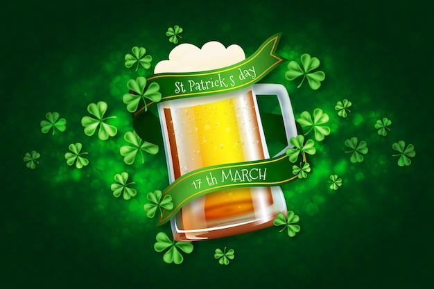 Realistische st. patricks day-thema