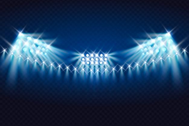 Realistische stadionbeleuchtung