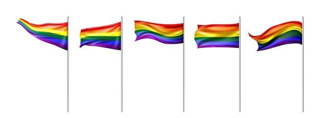 Realistische stolz-tagesflaggensammlung