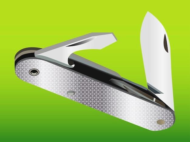 Realistische swiss knife metallic-tool