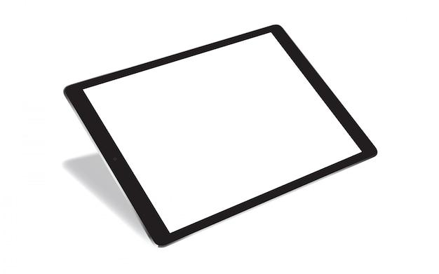 Realistische tablette der perspektive lokalisiert auf weiß