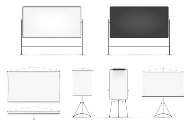 Realistische tafel auf weißem hintergrund eingestellt