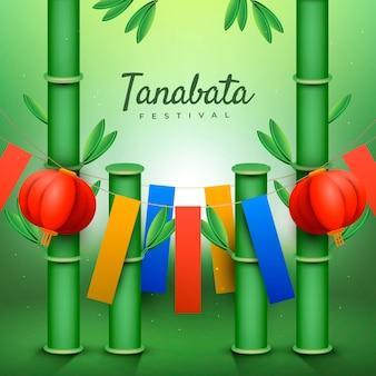Realistische tanabata-feierillustration