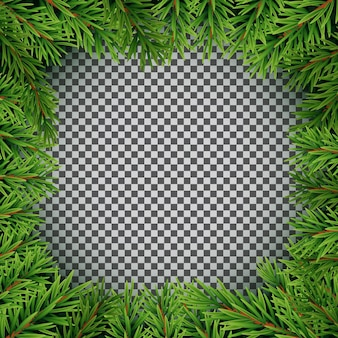 Realistische tannenzweige. frohe weihnachten und neujahr winter natürlicher hintergrund. vektor-illustration eps10