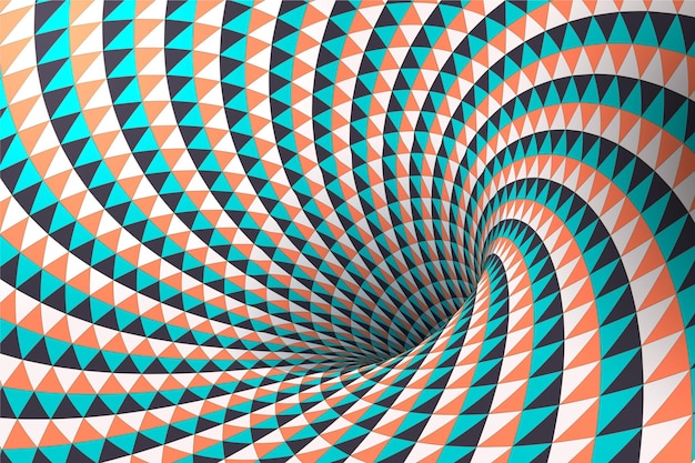Realistische tapete der optischen täuschung