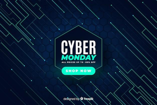 Realistische technologie cyber montag