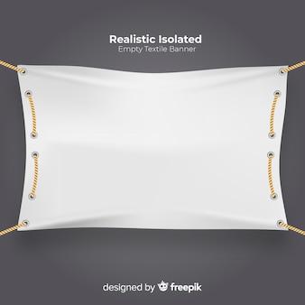 Realistische textilfahne