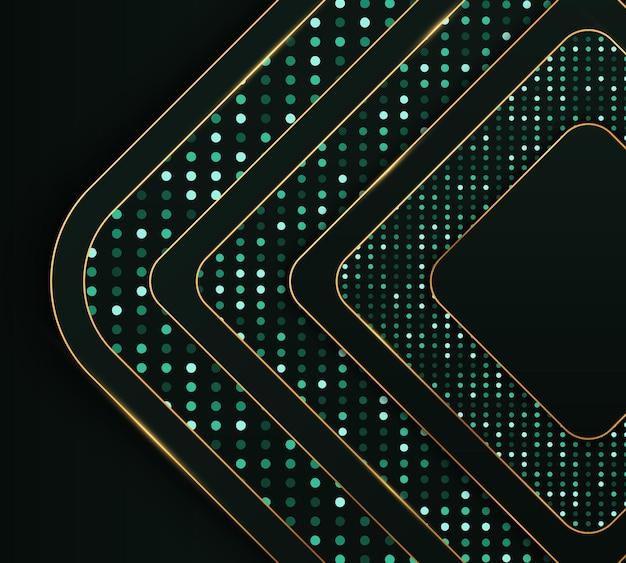 Realistische textur mit lichteffekt und goldener glitzerpunktelementdekoration