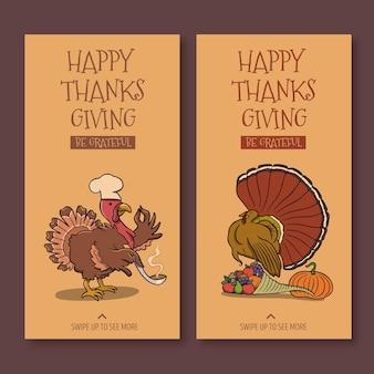Realistische thanksgiving-instagram-geschichten