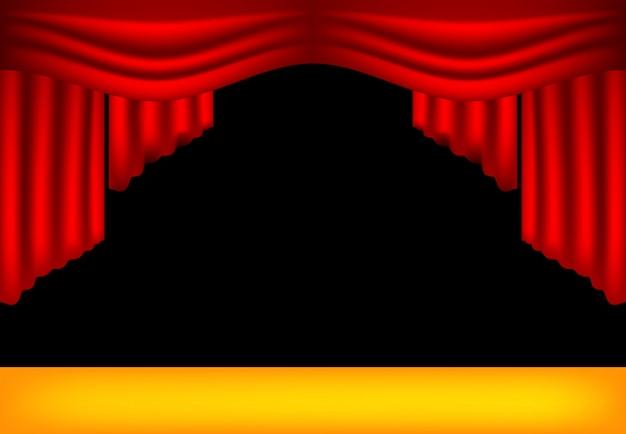 Realistische theatervorhänge