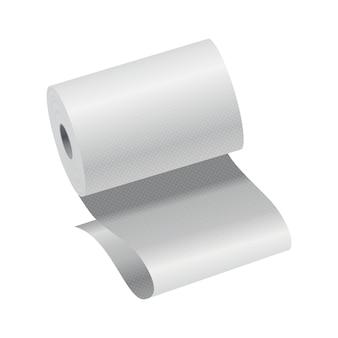 Realistische toilettenpapier- oder küchentuchrollenvorlage